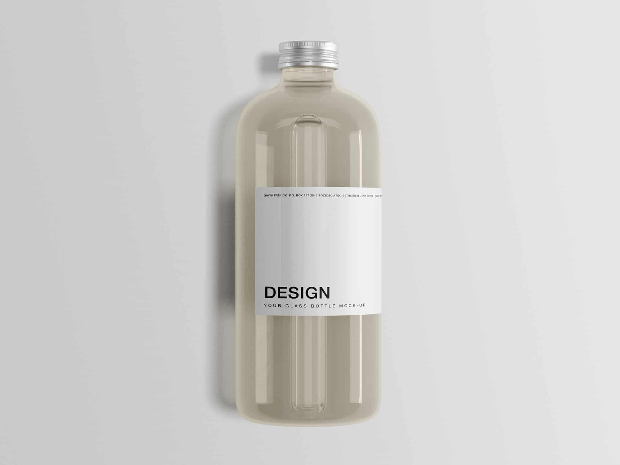 Classic Glass Bottle PSD Mockup