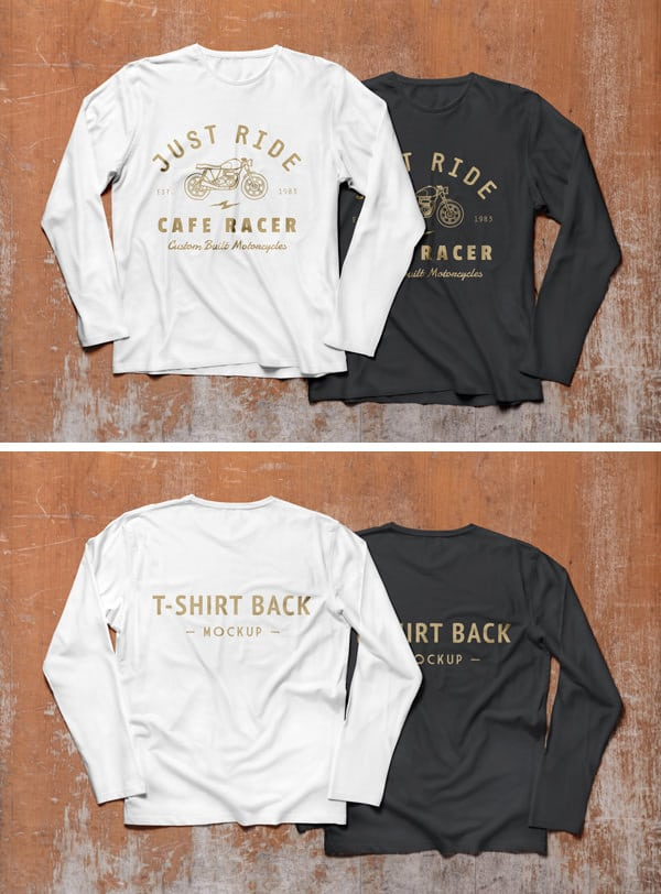 Long Sleeve T-Shirt PSD Mockup