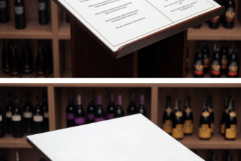 Design Beautiful Presentation with This Wine Menu PSD Mockup