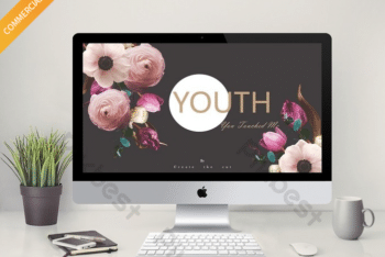 Free Youthful Magazine Design Powerpoint Template
