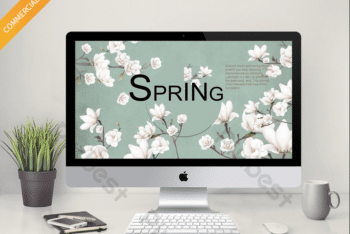 Free Floral Spring Slides Powerpoint Template