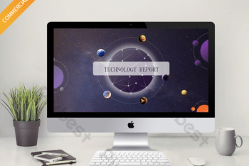 Free Solar System Model Powerpoint Template