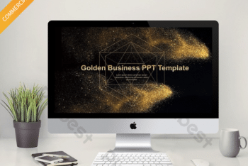 Free Gold Dust Slides Powerpoint Template