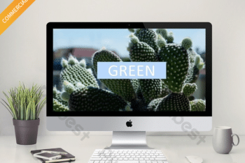 Free Healthy Cactus Plant Powerpoint Template