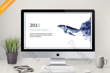 Free Blue Whale Slides Powerpoint Template