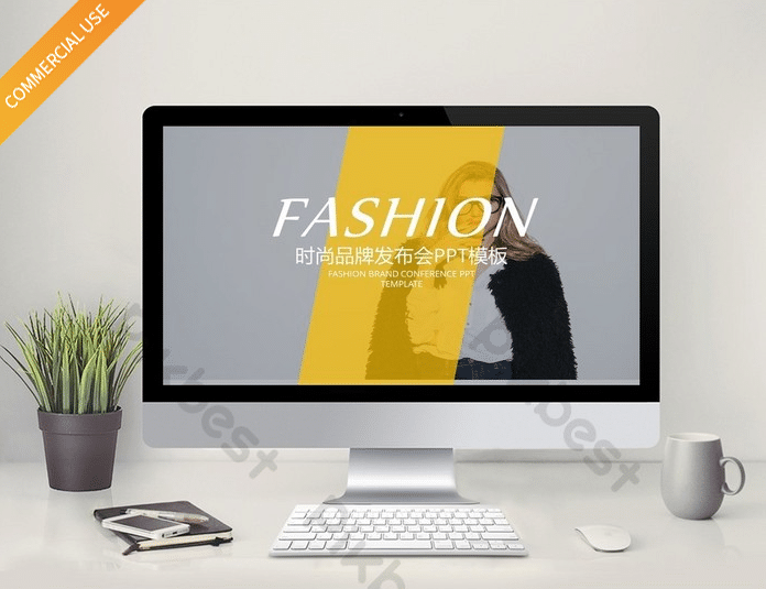 Free Funky Bright Fashion Powerpoint Template - DesignHooks