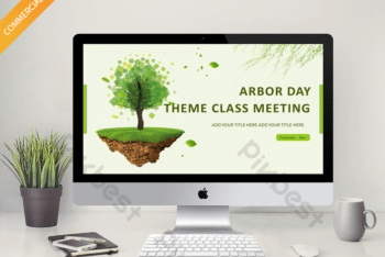 Free Tree Planting Art Powerpoint Template