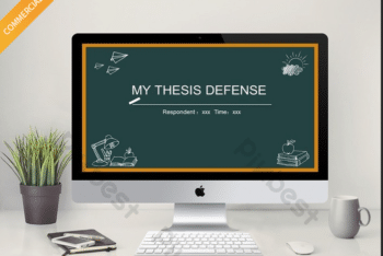Free Chalkboard Thesis Defense Powerpoint Template
