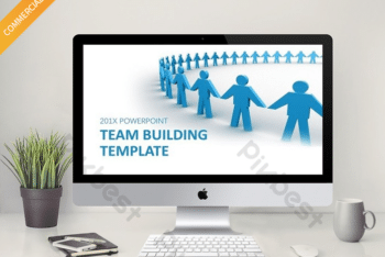 Free Team Building Art Powerpoint Template
