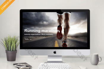 Free Sports Marathon Slides Powerpoint Template