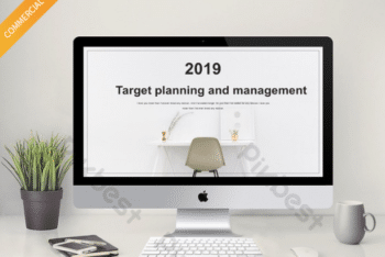 Free Planning Plus Management Powerpoint Template