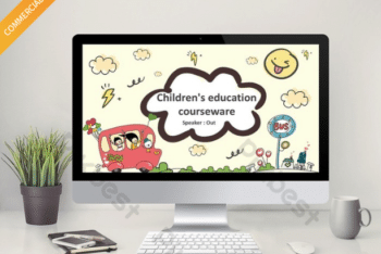 Free Cute Cartoon Education Powerpoint Template