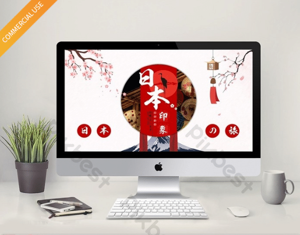 Free Japanese Culture Info Powerpoint Template Designhooks