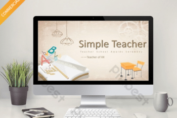 Free Simple Creative Teacher Powerpoint Template