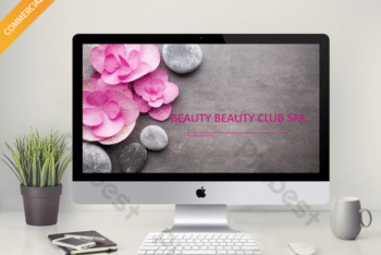 Free Healthy Public Spa Powerpoint Template