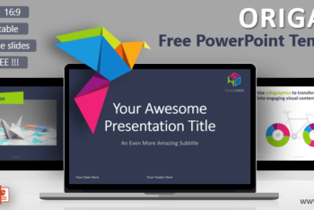 Free Origami Lessons Concept Powerpoint Template