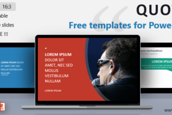 Free Quote Presentation Slide Powerpoint Template
