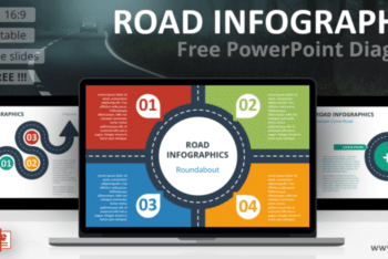 Free Road Infographics Slide Powerpoint Template