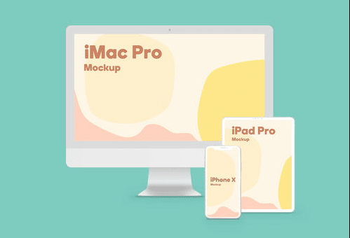 Free PSD Mockup for Apple Devices