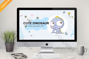 Free Cute Dinosaur Slides Powerpoint Template