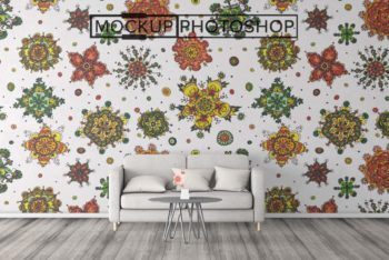 Download This Full Wall Sticker PSD Mockup to Present Your Design Beautifully