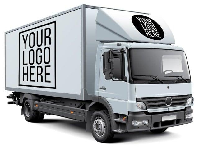 Truck PSD Mockup Free