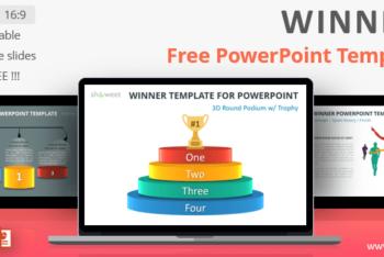 Free Winner Chart Slides Powerpoint Template