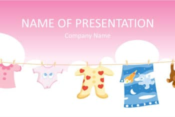 Free Baby Clothes Concept Powerpoint Template