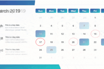Free 2019 Calendar Map Powerpoint Template