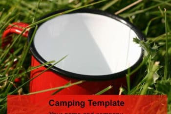 Free Camping Gear Concept Powerpoint Template