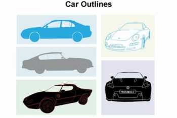 Free Car Outline Designs Powerpoint Template