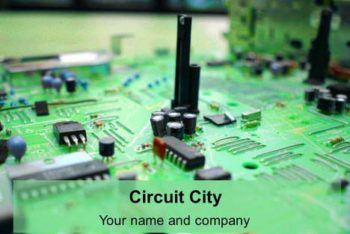 Free Circuit City Concept Powerpoint Template