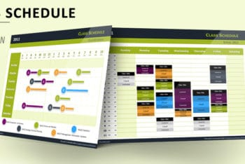 Free Class Schedule Slides Powerpoint Template