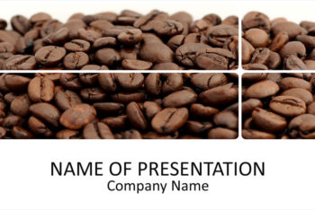 Free Coffee Bean Promotion Powerpoint Template