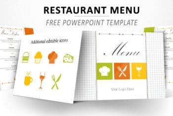 Free Restaurant Menu Design Powerpoint Template