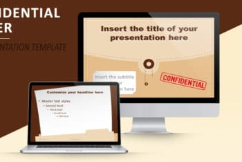 Free Confidential Folder Slides Powerpoint Template