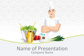 Free Male Chef Art Powerpoint Template