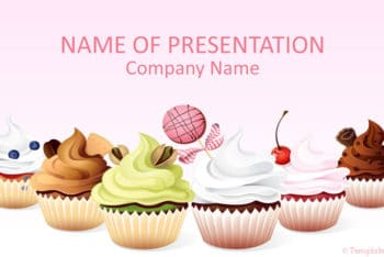 Free Pretty Cupcake Art Powerpoint Template