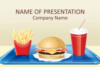 Free Fast Food Art Powerpoint Template