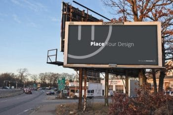 Awesome Outdoor Billboard PSD Mockup Template for Designing Billboards Easily