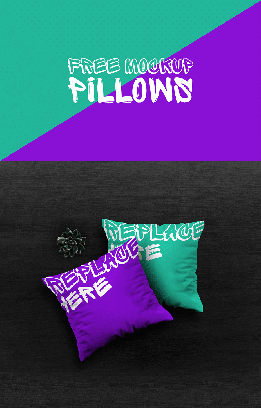 Free Pillows PSD Mockup