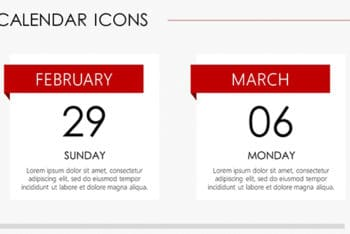Free Calendar Icons Concept Powerpoint Template