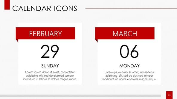 Calendar Icons Concept