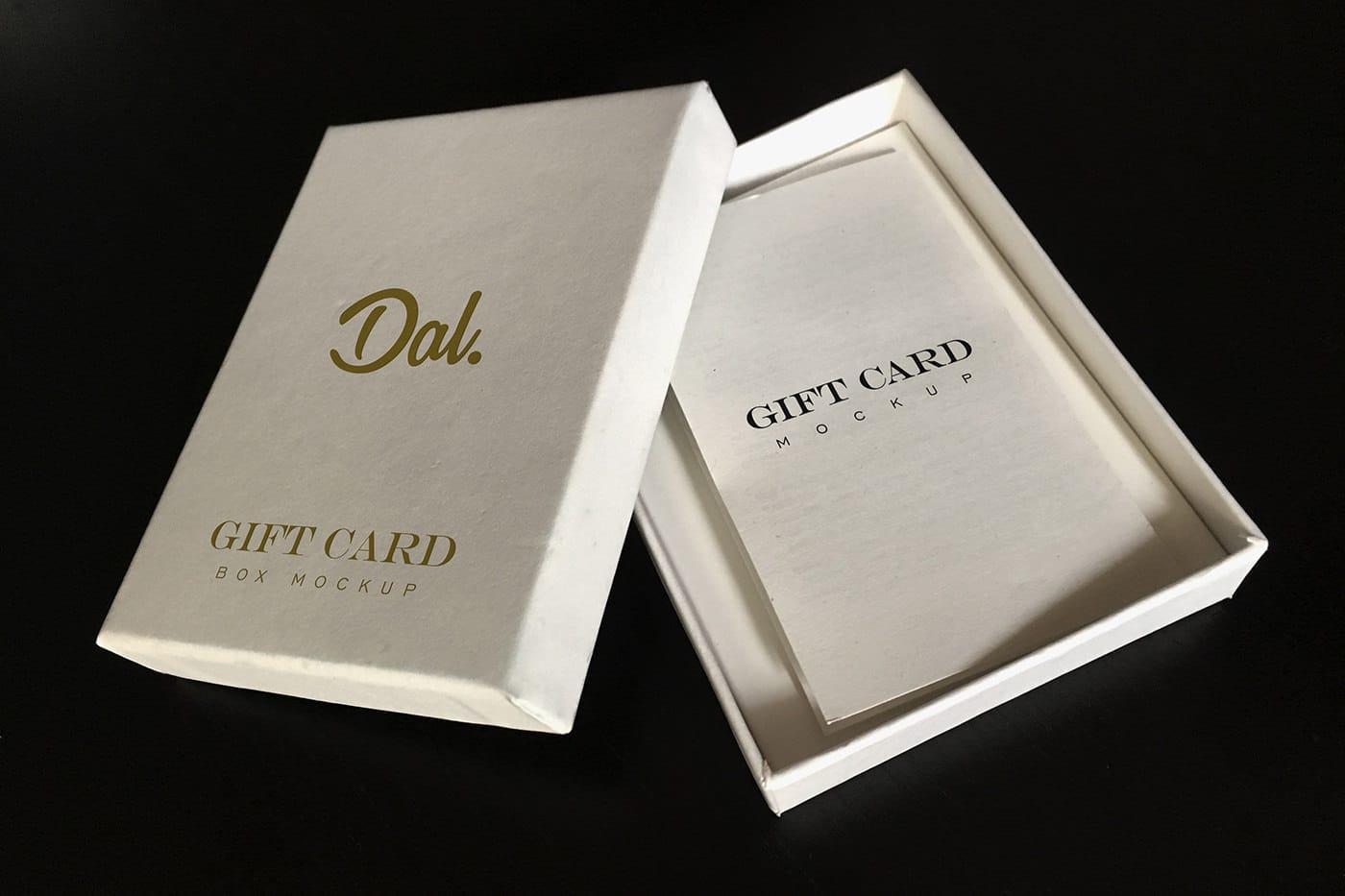 Gift Card Box PSD Mockup
