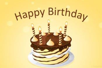 Free Birthday Cake Surprise Powerpoint Template