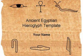 Free Egyptian Hieroglyphs Slide Powerpoint Template
