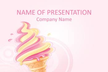 Free Ice Cream Art Powerpoint Template