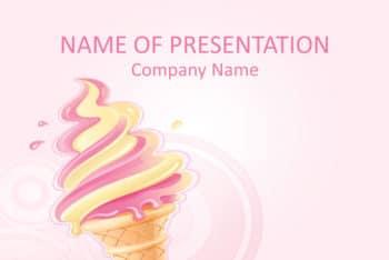 Free Ice Cream Art Powerpoint Template