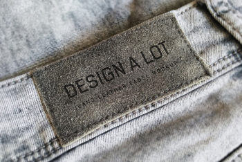 Jeans Label PSD Mockup for Free