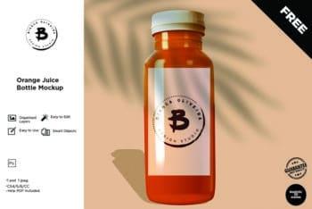 Download Juice Bottle PSD Mockup to Create Beautiful Presentation